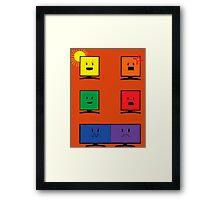 Reflections of Us- Orange Framed Print