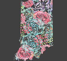 Floral Indiana State by emprintsstudio