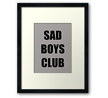 Sad Boys Club Framed Print