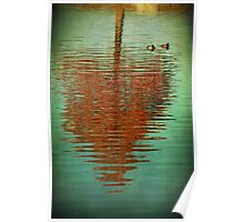 Cypress Reflection With Ducks Poster