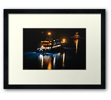 Ships in the Night Framed Print