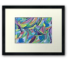 Color Clash Framed Print