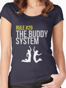 Zombieland Survival Guide - Rule #29 - The Buddy System Women's Fitted Scoop T-Shirt