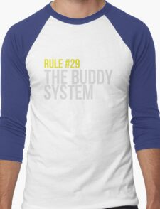 Zombieland Survival Guide - Rule #29 - The Buddy System Men's Baseball ¾ T-Shirt