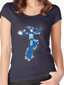 Mega Man X Splattery Any Color Shirt or Hoodie Women's Fitted Scoop T-Shirt