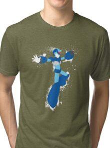 Mega Man X Splattery Any Color Shirt or Hoodie Tri-blend T-Shirt