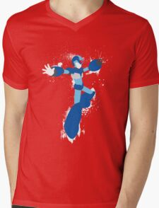 Mega Man X Splattery Any Color Shirt or Hoodie Mens V-Neck T-Shirt
