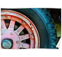 Fire Truck Wheel Poster