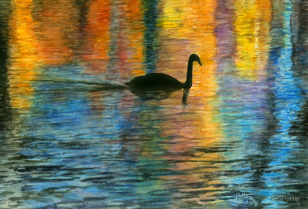 Holiday Swan by BenPotter