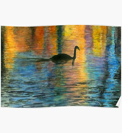 Holiday Swan Poster