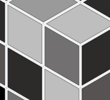 Monochrome Rubik's cube Sticker