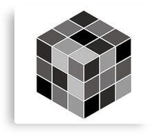Monochrome Rubik's cube Canvas Print