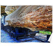 Train Hauling Logs Poster
