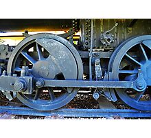 Train Wheels Photographic Print