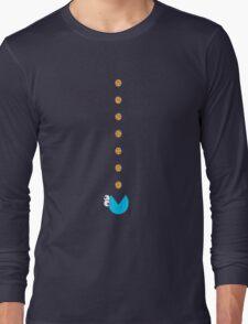 Cookie Monster Pac-Man Long Sleeve T-Shirt