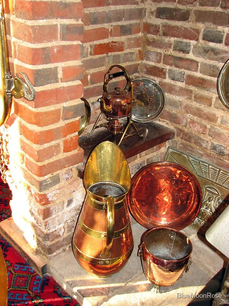 Antique Copper Utensils - Ye Olde White Hart Hotel by BlueMoonRose