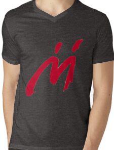M Graffiti  Mens V-Neck T-Shirt