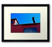 Red Caboose Framed Print