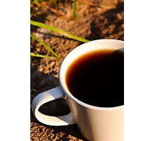 Coffee al fresco  Photographic Print