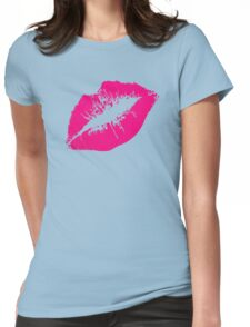Pink Lips Womens Fitted T-Shirt