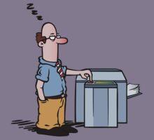 Boss asleep at copy machine Kids Clothes