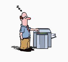Boss asleep at copy machine Unisex T-Shirt