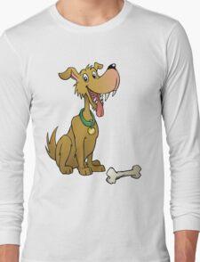 Cartoon dog with bone Long Sleeve T-Shirt