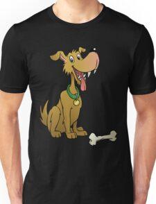 Cartoon dog with bone Unisex T-Shirt