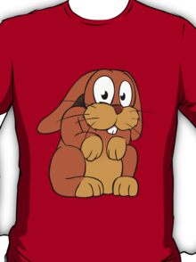 Cute cartoon rabbit with big eyes T-Shirt