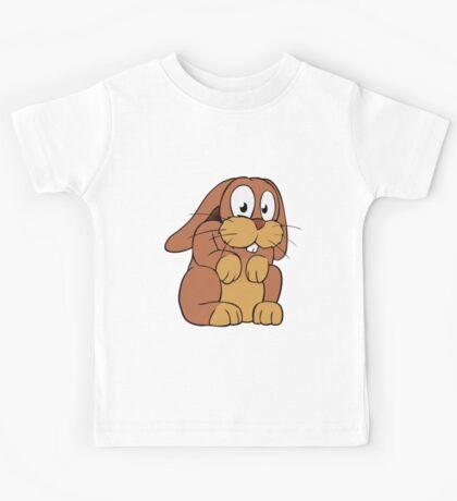 Cute cartoon rabbit with big eyes Kids Tee
