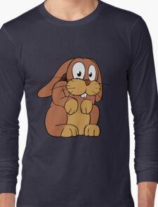 Cute cartoon rabbit with big eyes Long Sleeve T-Shirt