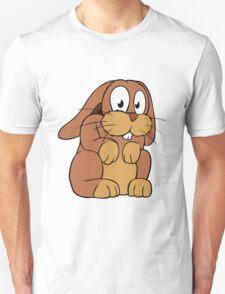 Cute cartoon rabbit with big eyes Unisex T-Shirt