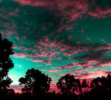 Pink clouds by BigAndRed