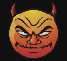 Red evil devil smiley  by Colin Cramm