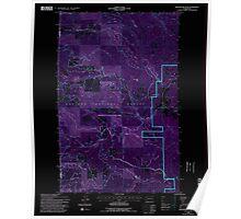 USGS Topo Map Washington State WA Winchester Peak 244740 1992 24000 Inverted Poster