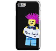 Black lego temp iPhone Case/Skin