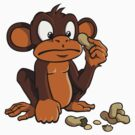 Cute cartoon monkey with peanuts by Colin Cramm