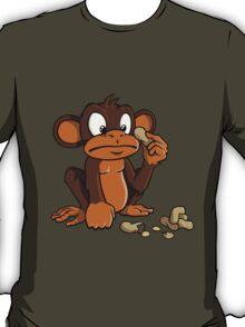 Cute cartoon monkey with peanuts T-Shirt