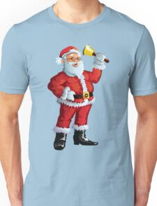 Santa claus with bell Unisex T-Shirt
