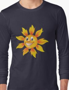 Cute smiling sun Long Sleeve T-Shirt