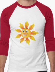 Cute smiling sun Men's Baseball ¾ T-Shirt