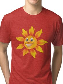 Cute smiling sun Tri-blend T-Shirt