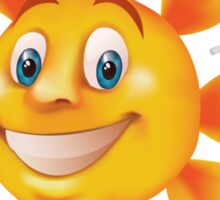 Cute smiling sun Sticker