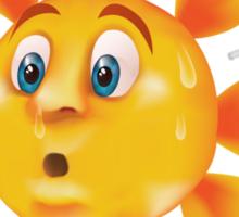 Sweating sun Sticker