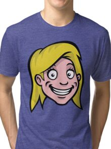 Cartoon girl Tri-blend T-Shirt