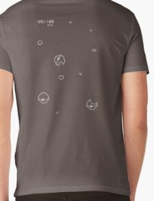Asteroids with Pokemon Mens V-Neck T-Shirt