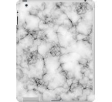 white marble iPad Case/Skin