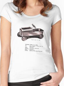 Triang Duke.  Classic Pedal Car. Women's Fitted Scoop T-Shirt