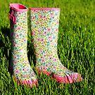 rain boots by beverlylefevre