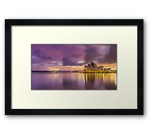 Clouds and light  at the Opera Framed Print